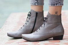 Holidays Sale 20% Leather Boots Ankle Boots Leather by BangiShop