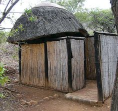 "A stylish outhouse in the middle of the ""bush"" of Africa."