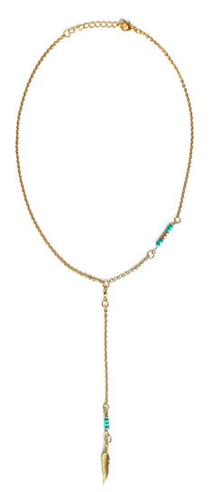 Chancery Lane - This beautiful Lydia of London necklace comes in gold and silver tone with turquoise beads and feather charm. Adjustable in size this is the perfect fashionable accessories to accompany any outfit.