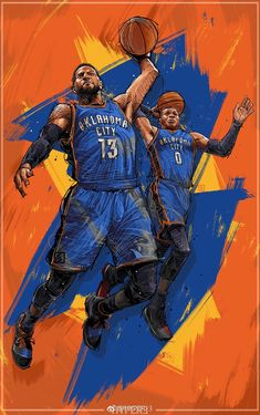 Russell Westbrook and Paul George are two of the best players in the league and ., League of Arts, League of Arts Russell Westbrook and Paul George are two of the best players in the league and are playing on the same team. Basketball Posters, Basketball Is Life, Basketball Pictures, Russell Westbrook Wallpaper, Westbrook Wallpapers, Thunder Team, Oklahoma City Thunder, Sports Basketball, Basketball Workouts