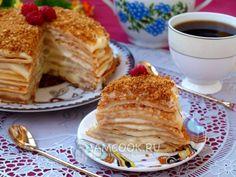 Готовый блинный торт с заварным кремом