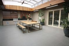Alto Smoke - outdoors example in bright light mm Wear rating: 5 Slip rating: Outdoor Paving, Outdoor Tiles, Outdoor Gardens, Outdoor Living Areas, Outdoor Rooms, Outdoor Decor, Beaumont Tiles, Modern Tropical, Cladding