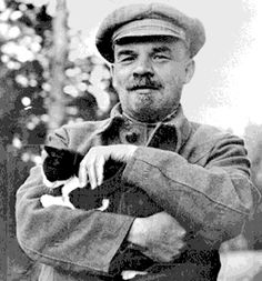 Vladimir Lenin and cat