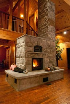 Giant fireplace