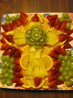 This is a Fruit Cross that we made for my son's Confirmation dinner. It could be used for an Easter brunch too.