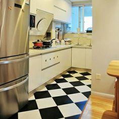 北欧宜家风格 卫生间瓷砖 黑白格子 浴室厨房地砖 防滑 300*300-淘宝网