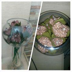 Vaso com tulipas
