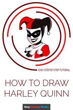 quinn harley drawing draw easy step simple easydrawingguides tutorial drawings pencil cartoon line beginners colored cool pencils tutorials batman
