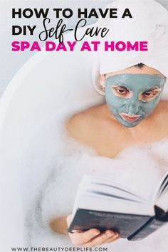 Create the perfect DIY spa day at home for some relaxation and beauty pampering with our complete step by step guide. Have your own soothing self-care day using our at home spa ideas, checklist, tips, easy beauty treatments, product suggestions, and even some DIY beauty recipes to try! #diybeauty #selfcare #spadayathome #spadiyideas #spadiyrecipes #healthandbeauty