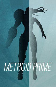 Metroid Prime Minimalist Poster-Andrew Wight