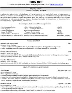 36 Best Best Finance Resume Templates & Samples images   Cv template ...
