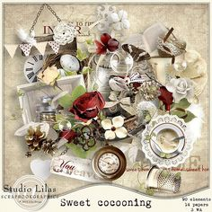 Sweet Cocooning by Lilas Designs is now available at Scrapbookgraphics. It contains 90 Elements, 14 Papers and 4 Wordarts. Quickpages are also available Digital Scrapbooking, Sweet Home, Table Settings, Paper, Cute, Design, House Beautiful, Kawaii