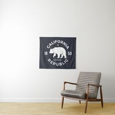 California Logo | The Golden State Tapestry - logo gifts art unique customize personalize