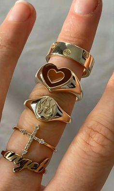 Nail Jewelry, Trendy Jewelry, Cute Jewelry, Gold Jewelry, Jewelry Rings, Jewelery, Jewelry Accessories, Fashion Jewelry, Piercings
