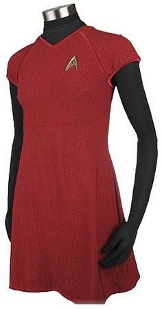 STAR TREK MOVIE UHURA RED DRESS