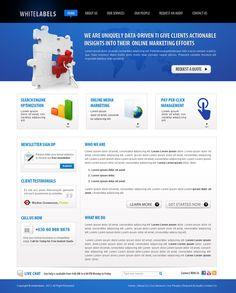 Free IT Company / Online Marketing Web Template by NabinBuzz world class marketing company