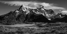 Torres del Paine panorama - The mighty mountains of Chilean Patagonia.  This is a panorama from 6 vertical shots.  www.doruoprisan.com