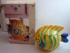 Gorgeous Adorable Colorful FURIO Ceramic Fish Cookie by LONLAR803, $20.00