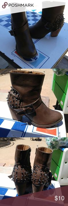 Rue 21 booties studded Worn only a couple times in great condition size is 7/8 Rue 21 Shoes