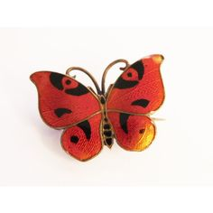 Rare CG Hallberg Guilloche Enamel Butterfly Brooch 1921 Sterling... ($166) ❤ liked on Polyvore featuring jewelry, sterling silver jewelry, sterling silver jewellery, 1921, monarch butterfly jewelry and enamel jewelry