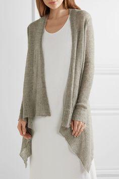 Rick Owens - Open-knit Alpaca-blend Cardigan - Gray