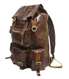 Handmade Large Superior Cow Leather Backpack Travel Bag