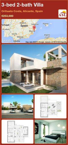 3-bed 2-bath Villa in Orihuela Costa, Alicante, Spain ►€253,000 #PropertyForSaleInSpain