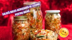 Romanian Food, Health Dinner, Preserves, Pickles, Biscuits, Mason Jars, Dinner Recipes, Frozen, Healthy Recipes