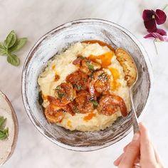 Caramelized Corn Polenta With Lemon Garlic Cajun Shrimp via @feedfeed on https://thefeedfeed.com/halfbakedharvest/caramelized-corn-polenta-with-lemon-garlic-cajun-shrimp