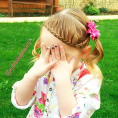 """picture day for my Princess today at her pre-school so thought this hairstyle would suit perfect to be able to see it in the photo. By…"""