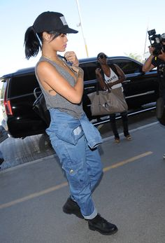 Rihanna street style candids 2014 riri fenty fashion blackanna black hair