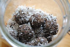 this whole family: nut-free bliss balls for packed lunches. Just made a batch (added psyllium husk for extra fibre). Kids love them and easy to make and even freeze! Lunch Box Recipes, Whole Food Recipes, Lunchbox Ideas, Paleo Recipes, Sweet Recipes, Snack Recipes, Dessert Recipes, Desserts, Healthy Snacks For Kids