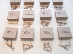 Zodiac necklaces #laser cut #birch #wood