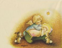 JUAN FERRÁNDIZ - ILUSTRADOR - Navidad-Cuentos-Comuniones-Cuentos de Ferrándiz-Postales Ferrándiz-Rafael Castillejo-Zaragoza Christmas Prayer, Christmas Nativity, Christmas Clipart, Christmas Angels, Christmas Holidays, Xmas, Vintage Greeting Cards, Vintage Christmas Cards, Retro Christmas