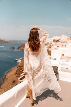 beach honeymoon clothes Featuring real bride on her honeymoon in Mykonos in our lace robe and raffia headband. Shop for your future Mrs. look from your engagement p Honeymoon Bikini, Honeymoon Clothes, Girl Photo Poses, Girl Photos, Chic Wedding, Wedding Gowns, Bridal Bikini, Beach Bachelorette, Maid Of Honor