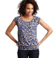 $29.50 - Animal Print Cotton Back Zip Tee