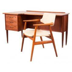 Bureau Danois vintage avec sa chaise, Erik KIRKEGAARD - années 60