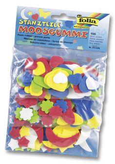 Moosgummi eignet sich ideal zum Basteln. Es ist ein vielseitig einsetzbares Material und erlaubt höchsten Bastelspaß bei maximaler Kreativität. Mehr unter www.folia.de