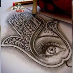 Image result for hamsa draw tattoo