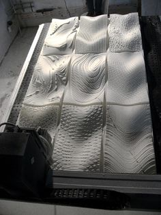 CNC milled wall panels.