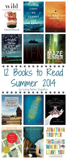 12 Books to Read - Summer 2014 | www.livingbettertogether.com