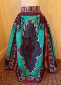 Africa Printed Maxi Skirt  Dashiki Maxi Skirt  Africa Maxi
