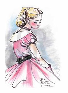I believe this is the prettiest drawing of Cinderella I have ever seen!!!