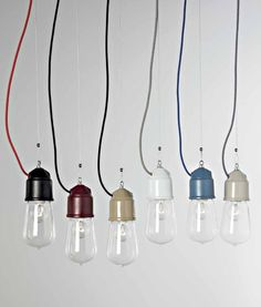 Tin Glazed Single Pendant available in six finishes with clear glass