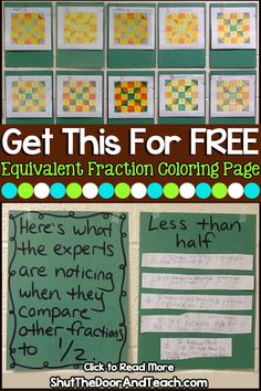 Using What We Know about Fractions Equivalent to One Half 4th Grade Fractions, Fourth Grade Math, Comparing Fractions, Teaching Fractions, Upper Elementary Resources, Elementary Math, Common Core Math, Teacher Blogs, Math Worksheets
