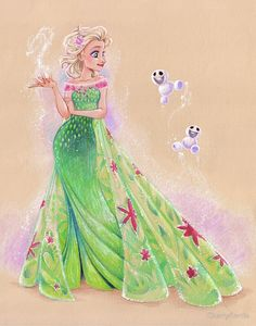 Frozen fever: Elsa by briannacherrygarcia Disney And Dreamworks, Disney Movies, Disney Pixar, Disney Characters, Disney Princess Art, Disney Fan Art, Elsa Frozen, Disney Frozen, Frozen Art