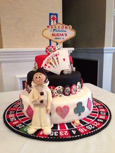 Vegas theme cake - sweet 16 birthday