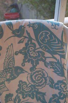 blue bird baby blanket. $26.00, via Etsy.