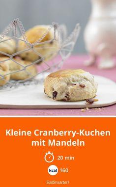 Kleine Cranberry-Kuchen mit Mandeln