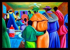 """Church Dinner"" by Ivey Hayes, ca. African American Art, American Artists, African Art, Art Pictures, Art Images, Christian Devotions, Unique Paintings, Painting People, Afro Art"